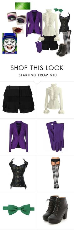 """""""Joker Costume"""" by jaeltheporcupine ❤ liked on Polyvore featuring Vera Wang, ESCADA, Forzieri and Miss Dora"""