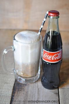 Coca-Cola Ice Cream Floats - featured in the Black + White Coca-Cola Float Party - Wit & Wander