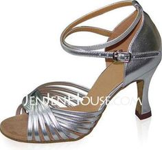 Dance Shoes - $77.51 - Patent Leather Heels Sandals Latin Ballroom Dance Shoes With Ankle Strap (053021708) http://jenjenhouse.com/Patent-Leather-Heels-Sandals-Latin-Ballroom-Dance-Shoes-With-Ankle-Strap-053021708-g21708