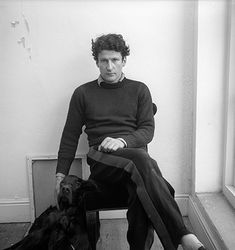 Timeless Cool: Lucien Freud and dog.