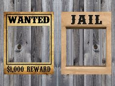 Wanted & Jail Poster Bundle - Western, Cowboy, Rodeo Birthday Party Theme - Photo Booth - Prop - Decoration - Downloadable - Printable 16x20 on Etsy, $7.00