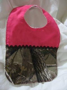 Realtree camo and pink bib