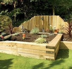 1000 images about railway sleeper uses on pinterest for Garden pond design using sleepers