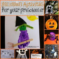 Here are a few activities to get your preschooler in the mood for a festive Halloween