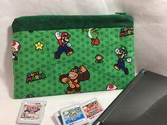 Nintendo 3DS XL Case: Super Mario World ~ Green by MommyMaryCrafts on Etsy