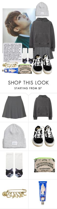 """""""Untitled #516"""" by danielagreg ❤ liked on Polyvore featuring Topshop, adidas Originals, Vans, Monki, Chanel and Buly"""