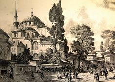 Gravür Tablolar - GRV 007 Istanbul, Grisaille, Urban Architecture, Landscape Drawings, Ottoman Empire, City Art, Pattern Art, Old Houses, Pyrography