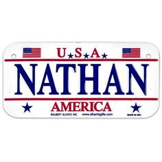 NATHAN USA Bike Plate - Made in USA, 3'x6' Embossed Aluminum -- Click image to review more details.