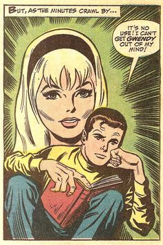 Can't Get Gwendy Out Of My Mind! (by John Buscema & Jim Mooney from Amazing Spider-Man #78, 1969)
