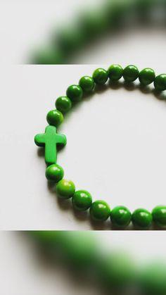 Etsy Jewelry, Beaded Jewelry, Cross Bracelets, Beaded Bracelets, Christian Jewelry, Bohemian Jewelry, Sell On Etsy, Stretch Bracelets, Fashion Bracelets