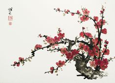 Plum Blossom - by Virginia Lloyd Davies,  Fairfield, VA