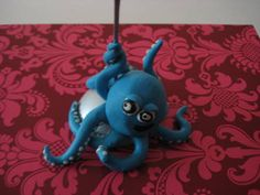 Polymer Clay Octopus Photo Clip