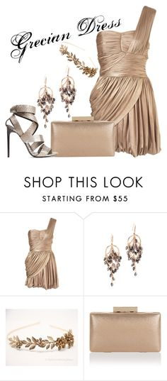 """Grecian Dress"" by ramirez-coimbra ❤ liked on Polyvore featuring Rare Opulence, Theia Jewelry, Monsoon and Tom Ford"