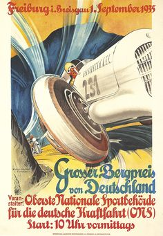 Grosser Bergpreis von Deutschland -1935 - (Klost & Kienast) -