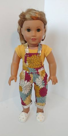 Doll Clothes I8 Inch American Girl Dolls Our Generation Yellow Long Sleeve Top