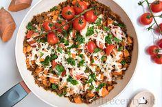 Tofu, Vegetable Pizza, Cobb Salad, Grains, Salads, Vegetables, Petra, Fitness, Vegetable Recipes