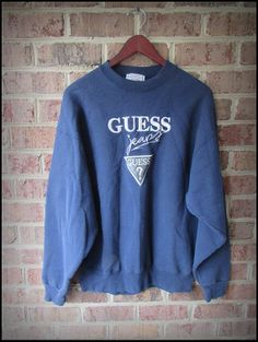 Vintage 90's Guess Jeans Embroidered Classic Crewneck Sweatshirt by CharchaicVintage, $22.00