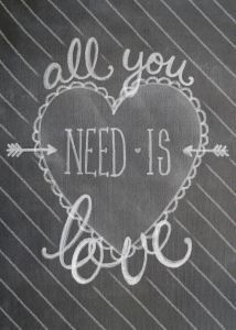 Silhouette Online Store - View Design #53817: love is all you need
