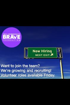 #communitybrave is growing! Join our newsletter list, recruiting starts Friday! #combrv #bravestaff