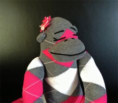 Giveaway! Pink Argyle Sock Monkey from @parentguidenews (Ends 10/14)