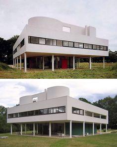 Arts Plastiques Lycée Costebelle: -La Villa Savoye 1928 1931 Le Corbusier- Poissy - Yvelines - France