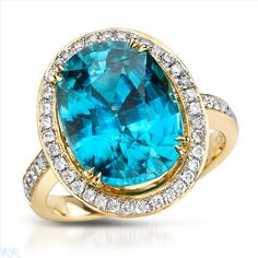 $3,299.00  Amazing Brand New Ring With 11.27ctw Precious Stones - Genuine  Clean Diamonds and Zircon Made of 14K Yellow Gold. Total item weight 7.7g - Size 7 - Certificate Available.