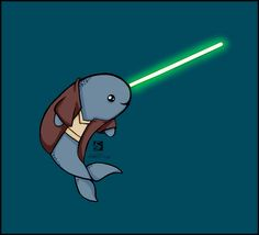 Image from http://fc03.deviantart.net/fs70/f/2012/185/5/4/jedi_narwhal_by_erionix-d560txe.jpg.