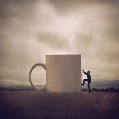 This guys conceptual photography is very cool. Conceptual Photography, Creative Photography, Surrealism Photography, Photography Ideas, Coffee Artwork, Great Novels, Coffee Love, Sweet Coffee, Coffee Coffee
