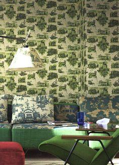 timorous beasties edinburgh toile wallpaper in living etc