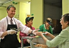 Michael Moore serving lunch in Grafton Massachusetts. #marchformeals #endseniorhunger #mealsonwheels