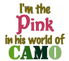 Instant Download I'm the Pink in his World by ChickpeaEmbroidery, $3.50