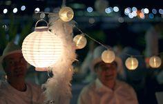 Diner en Blanc: lighting ideas