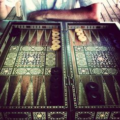 An amazing handcrafted oriental #backgammon board