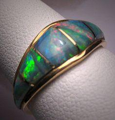 Vintage Australian Opal Ring