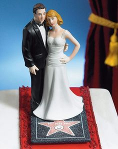 average cake topper gets a boost with Hollywood star and red carpet