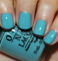 OPI Can't Find My Czechbook I think I love these new euro centrale colors Opi Blue Nail Polish, Opi Nail Colors, Opi Nails, Spring Nails, Summer Nails, Cute Nails, Pretty Nails, Baby Blue Nails, Teal Nails
