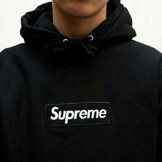 Black supreme box logo hoodie 100% cotton, vet rare Supreme Tops Sweatshirts & Hoodies