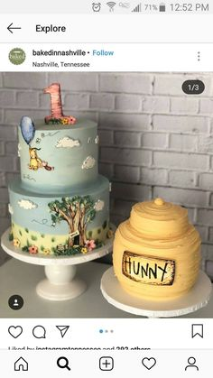 Winnie the Pooh themed Baby Shower . 30 Luxury Winnie the Pooh themed Baby Shower . Storybook themed Baby Shower Quote Centerpiece Winnie the Winnie Pooh Torte, Winnie The Pooh Birthday, Winnie The Pooh Nursery, Pooh Winnie, Winnie The Pooh Themes, Baby Shower Cakes, Baby Shower Themes, Shower Ideas, Baby Cakes