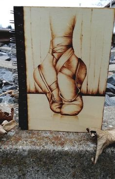 Balerina, Pyrography, Marketing And Advertising, Art Work, Etsy Seller, Notebook, Decoration, Wood, Creative