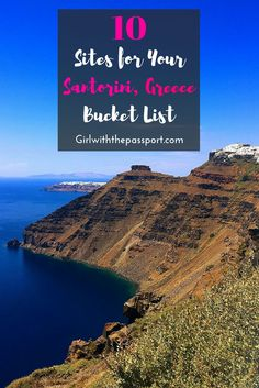 10 Santorini sites you MUST add to your Santorini bucket list right NOW. You don't want to miss out on any of the amazing things to do in Santorini Greece.