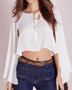 Plain white keyhole top for women short t shirts trumpet sleeve XXXL