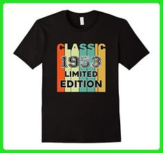 Mens Retro Classic 1953 Limited Edition Birthday Gift tshirt XL Black - Retro shirts (*Amazon Partner-Link)