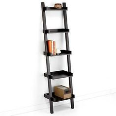 I would like one of these somewhere in our home - The Container Store > Linea Narrow Leaning Bookcase