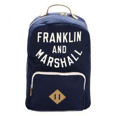 Franklin & Marshall Dark Blue Varsity Backpack