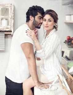 Kareena Kapoor & Arjun Romancing Scans From FilmFare Magazine April 2016 Issue