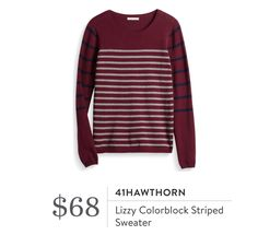 41Hawthorn Lizzy colorblock striped sweater from Stitch Fix https://www.stitchfix.com/referral/7393950