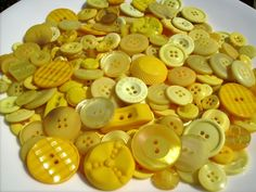 100 Hand Dyed Smal to Medium Embellishments - You Are My Sunshine - Yellow…