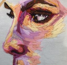 "gaksdesigns: ""Embroidery art by Pajnsy "" - DIY - Embroidery & Sewing Hand Embroidery Art, Embroidery Stitches, Embroidery Designs, Wow Art, Art Plastique, Art Sketchbook, Textile Art, Fiber Art, Amazing Art"