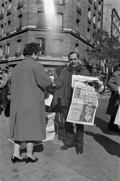 "Paris 1963 ""Death of Singer Edith Piaf"""
