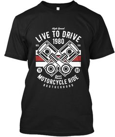 Live To Drive Shirt Men Black T-Shirt Front Shirt Men, T Shirt, Live, Mens Tops, Black, Fashion, Supreme T Shirt, Moda, Tee Shirt